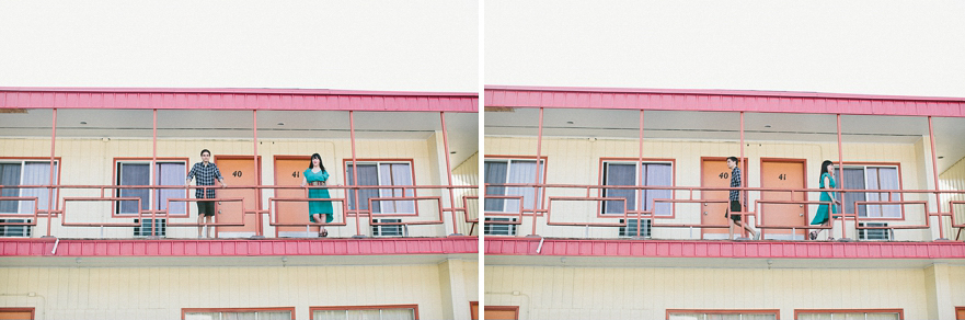 abandoned motel engagement shoot