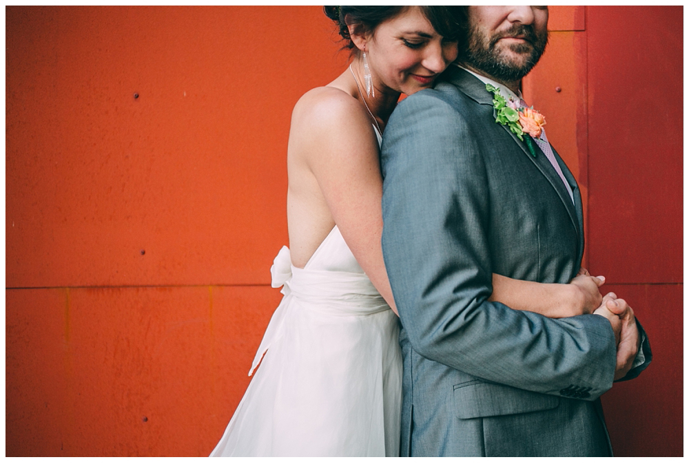 Carla and Andy's wedding at the smog shoppe in Los Angeles