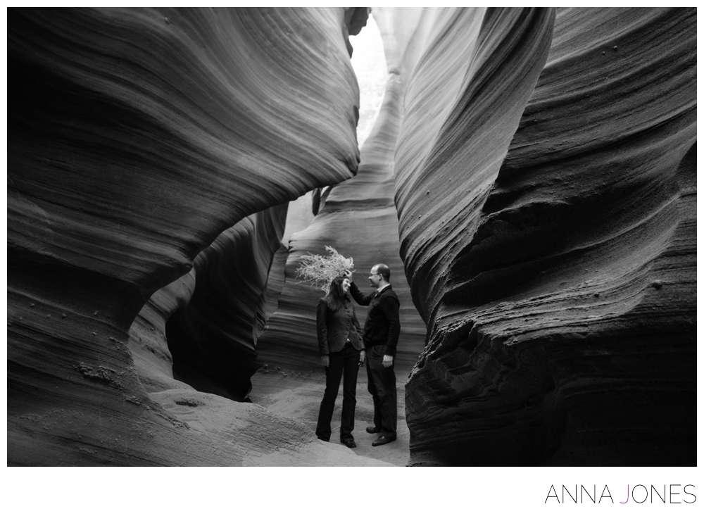 antelope canyon engagement shoot