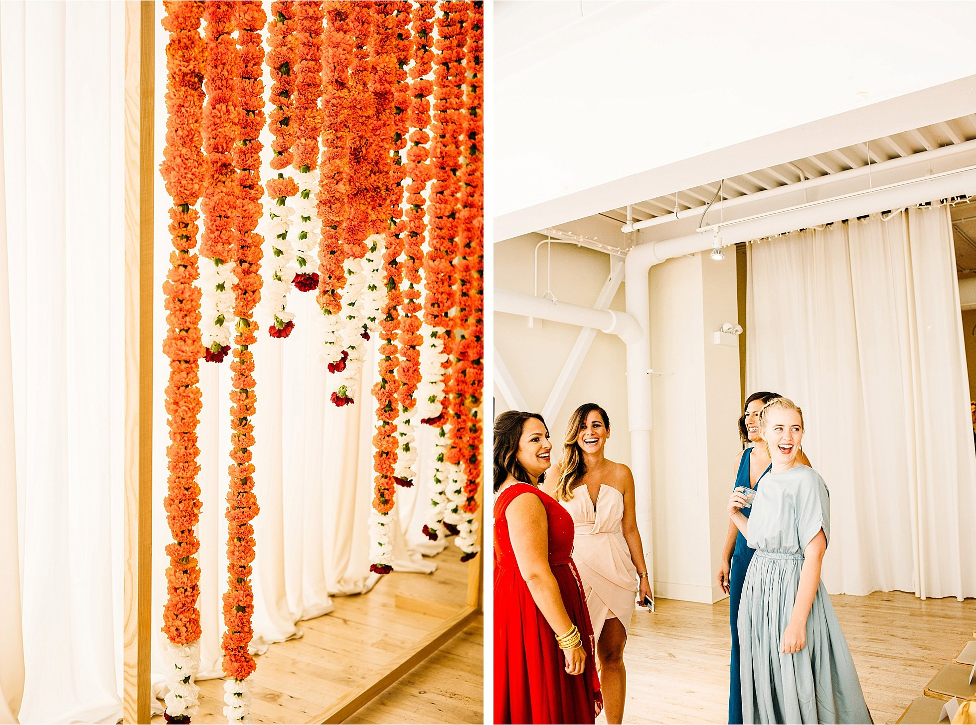 Jacob Johnson and anjali pinto first look for greenhouse loft wedding in Chicago