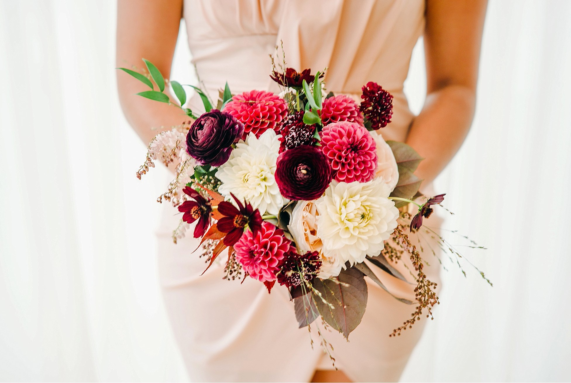 bridesmaids bouquet at greenhouse loft wedding Chicago