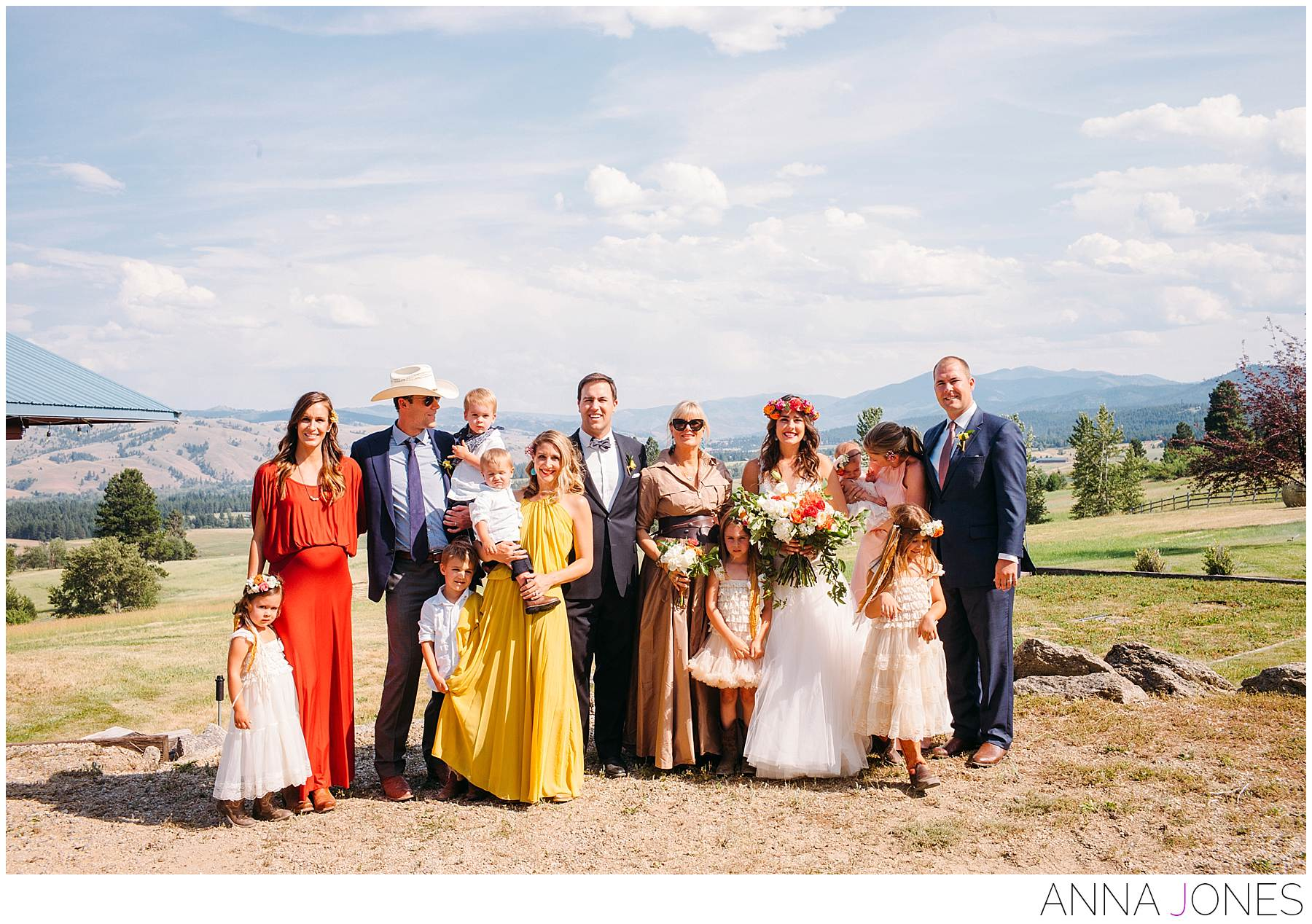 the Cassel family in Montana for Amanda's wedding