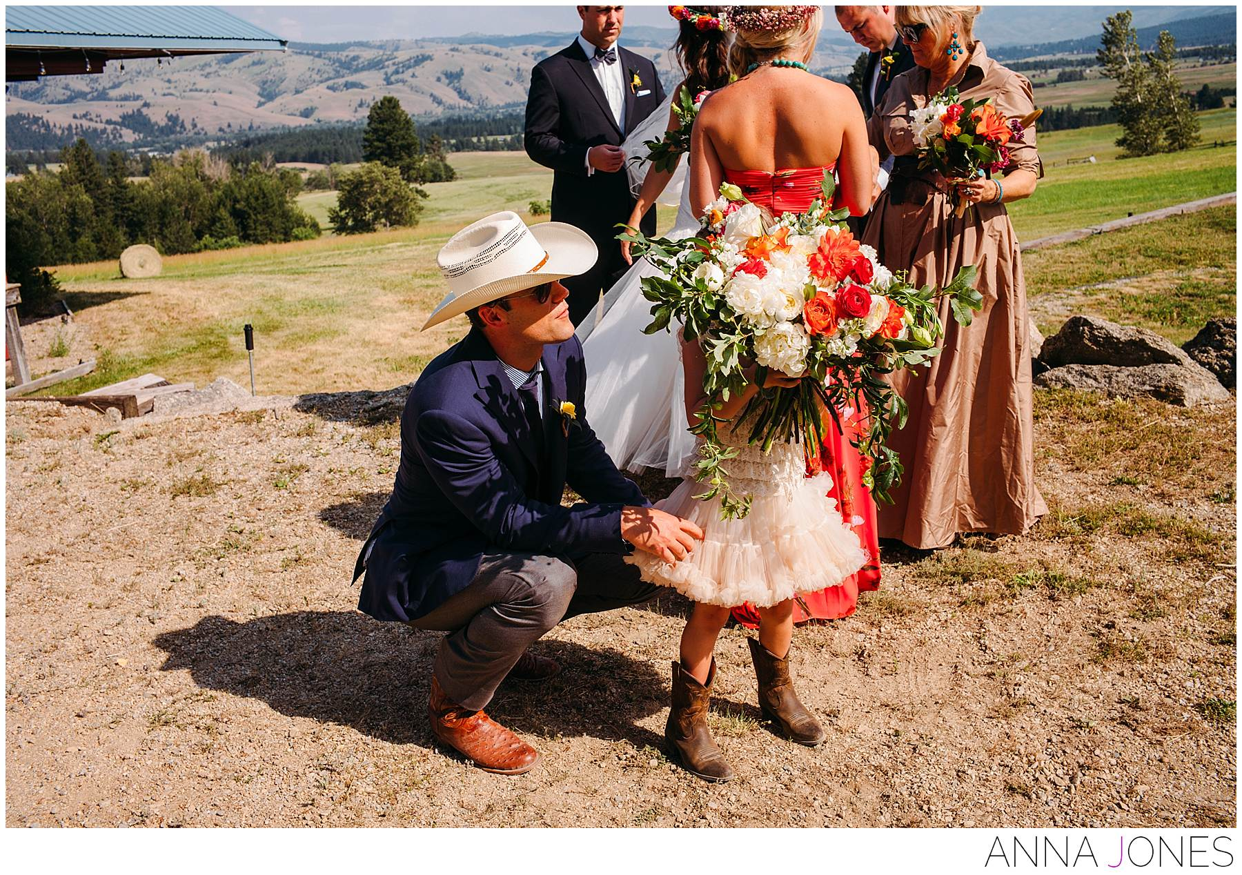 matt Cassel wedding in Montana ranch
