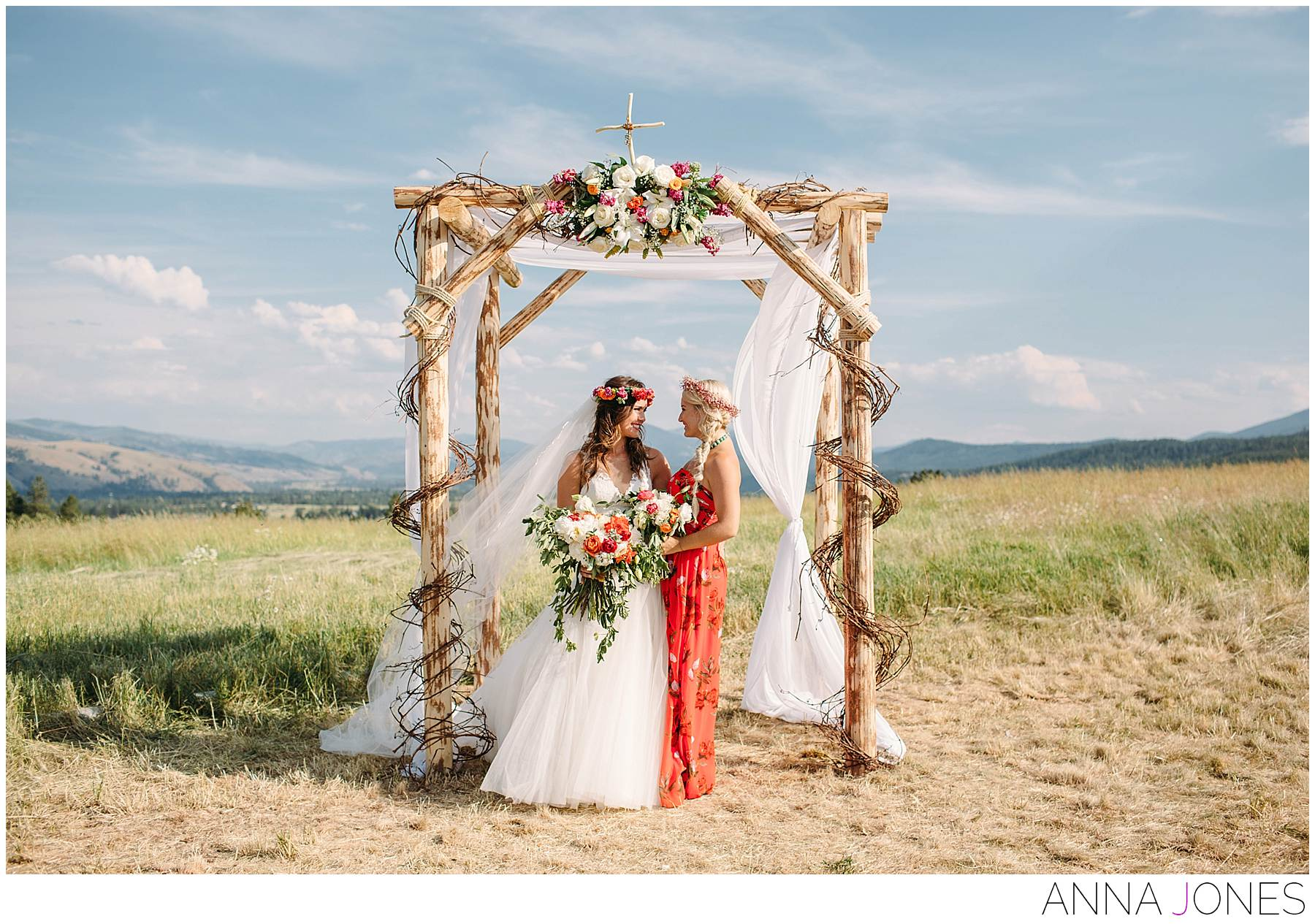 Amanda Cassel and Stephy Moustakas in Montana Wedding