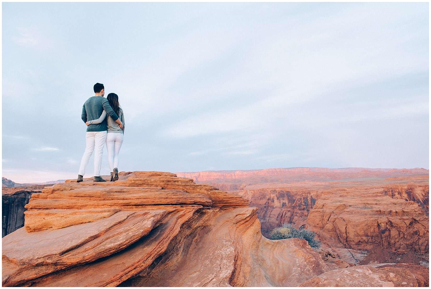 an engagement shoot at horseshoe bend wedding by anna jones