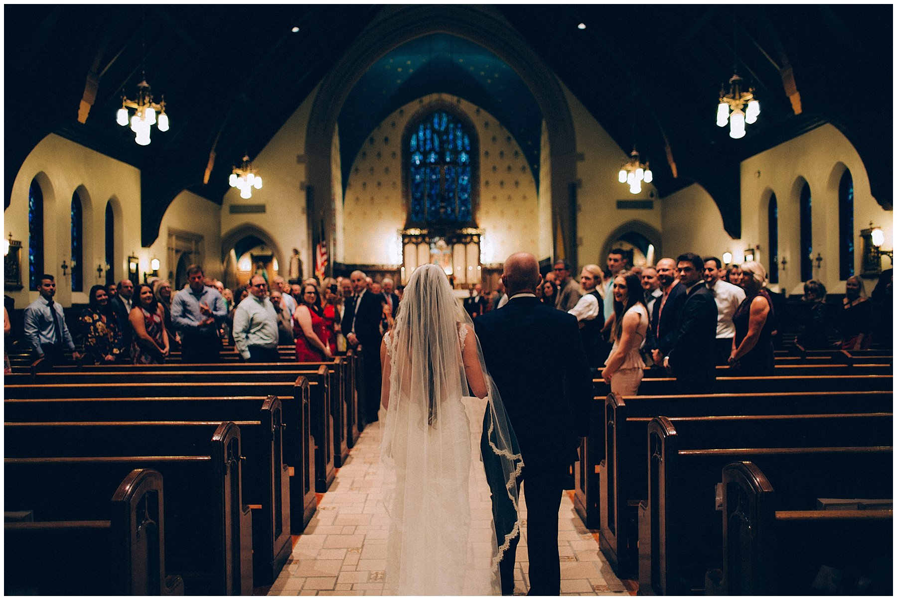 St Augustins Catholic Church wedding in Des Moines