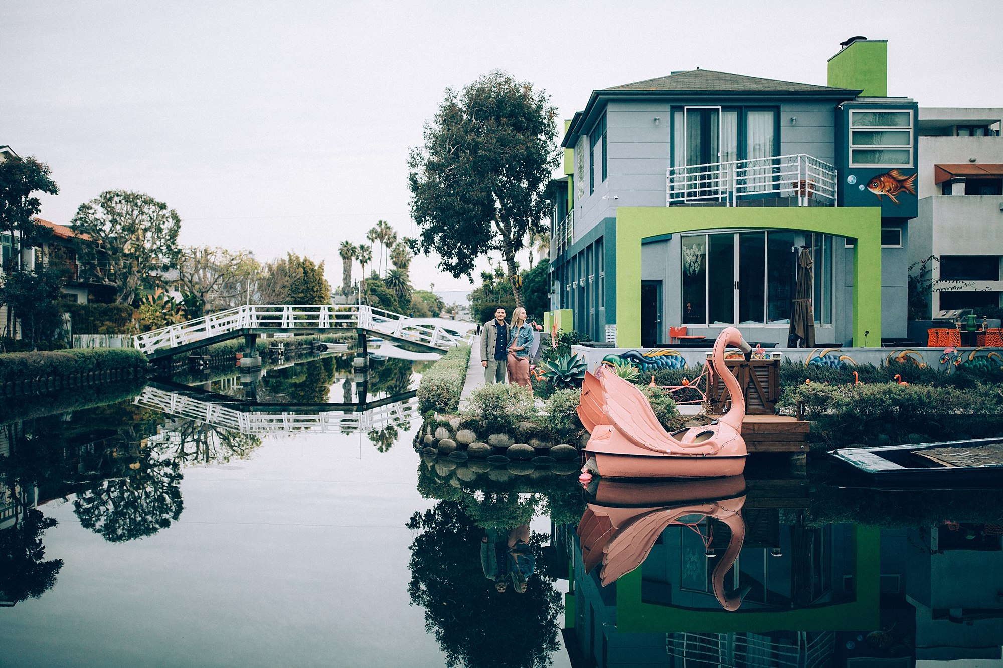 Courtney and Danny's Venice Canals Engagement Shoot