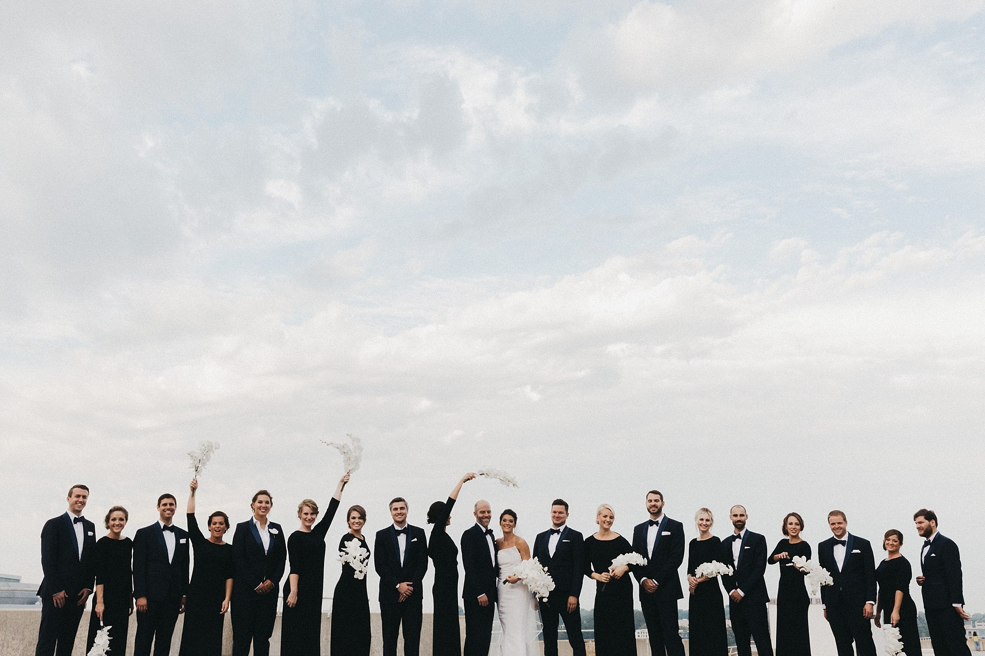 Sarah and Luke's Modern Iowa Wedding at Cowles Commons in Des Moines