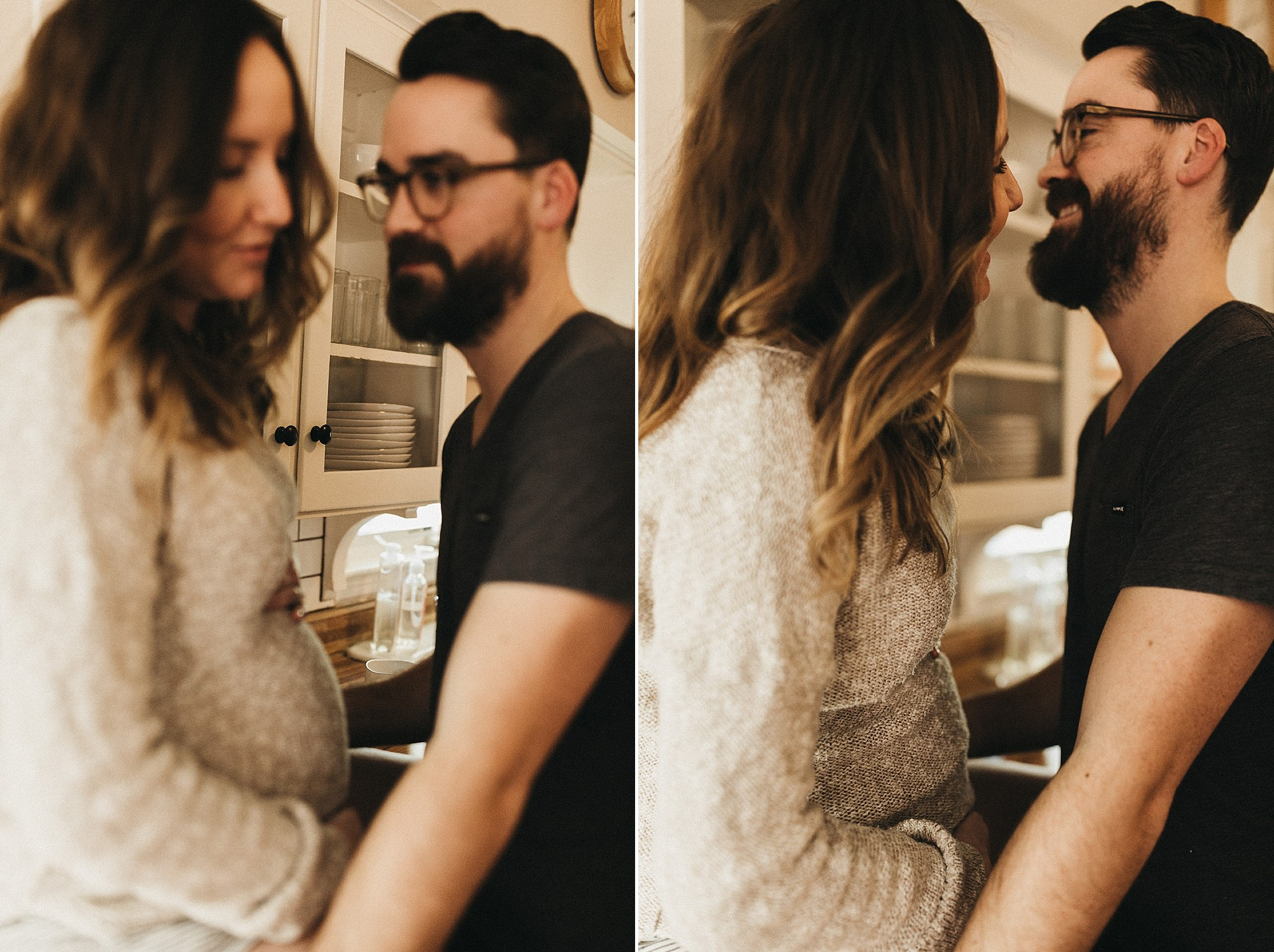 A cozy in-home maternity session