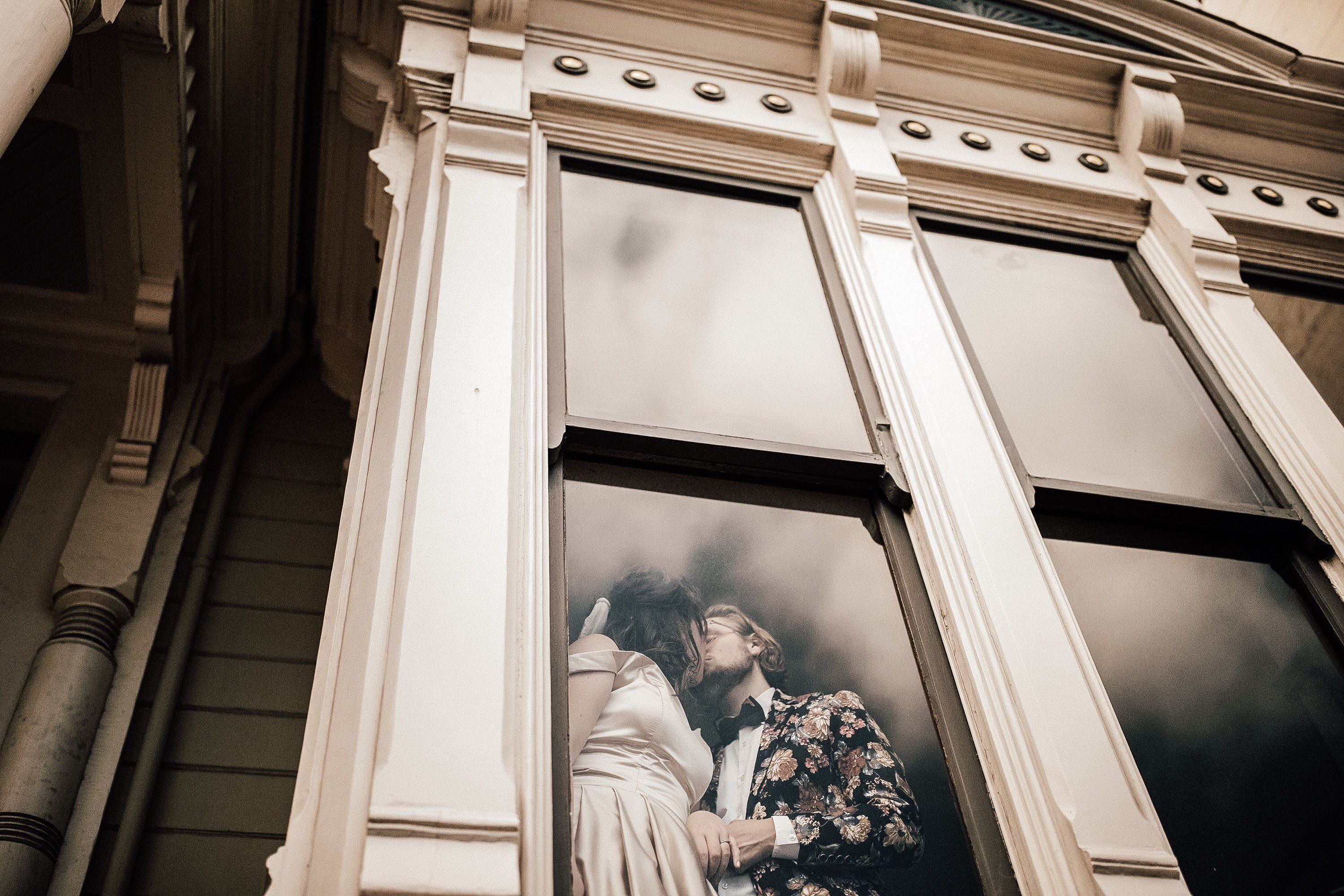intimate at-home San Francisco wedding