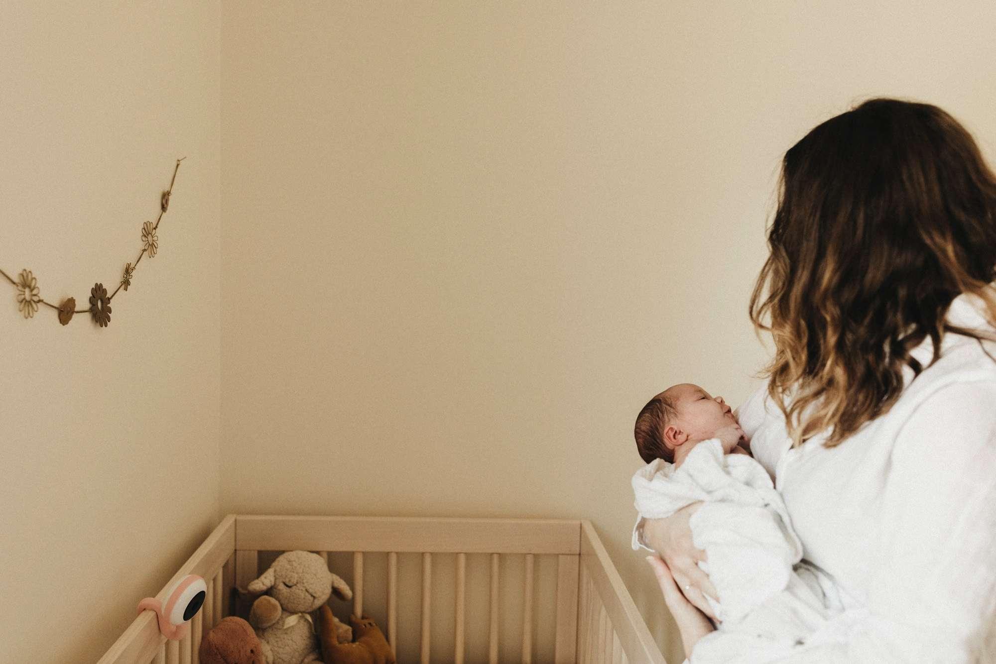 Katie and Adam welcome Evie Newborn Photos by Anna Jones