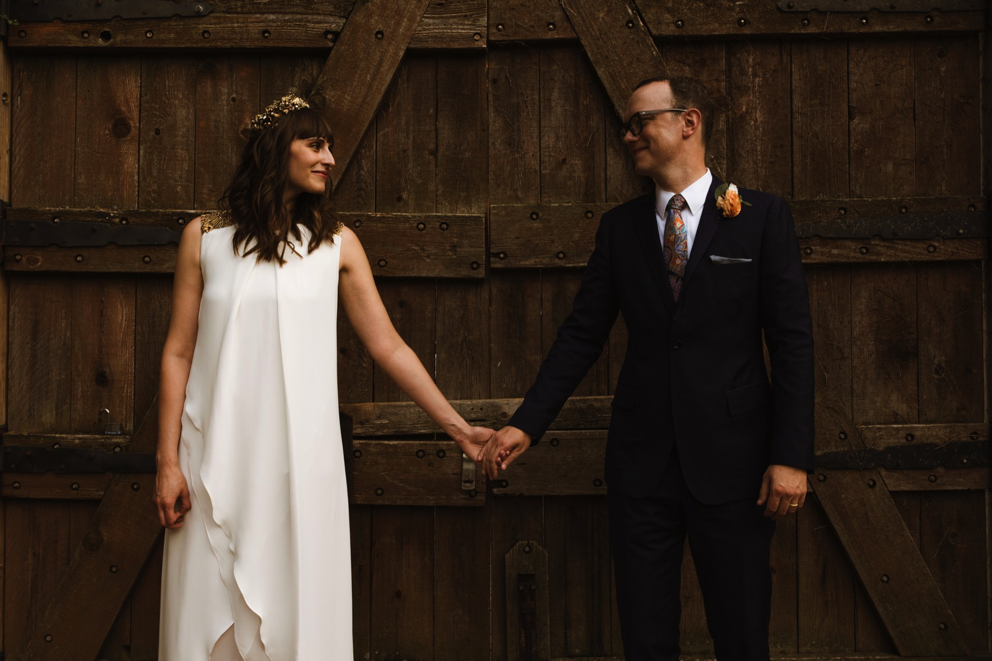 Intimate Wedding in Omaha's Old Market district