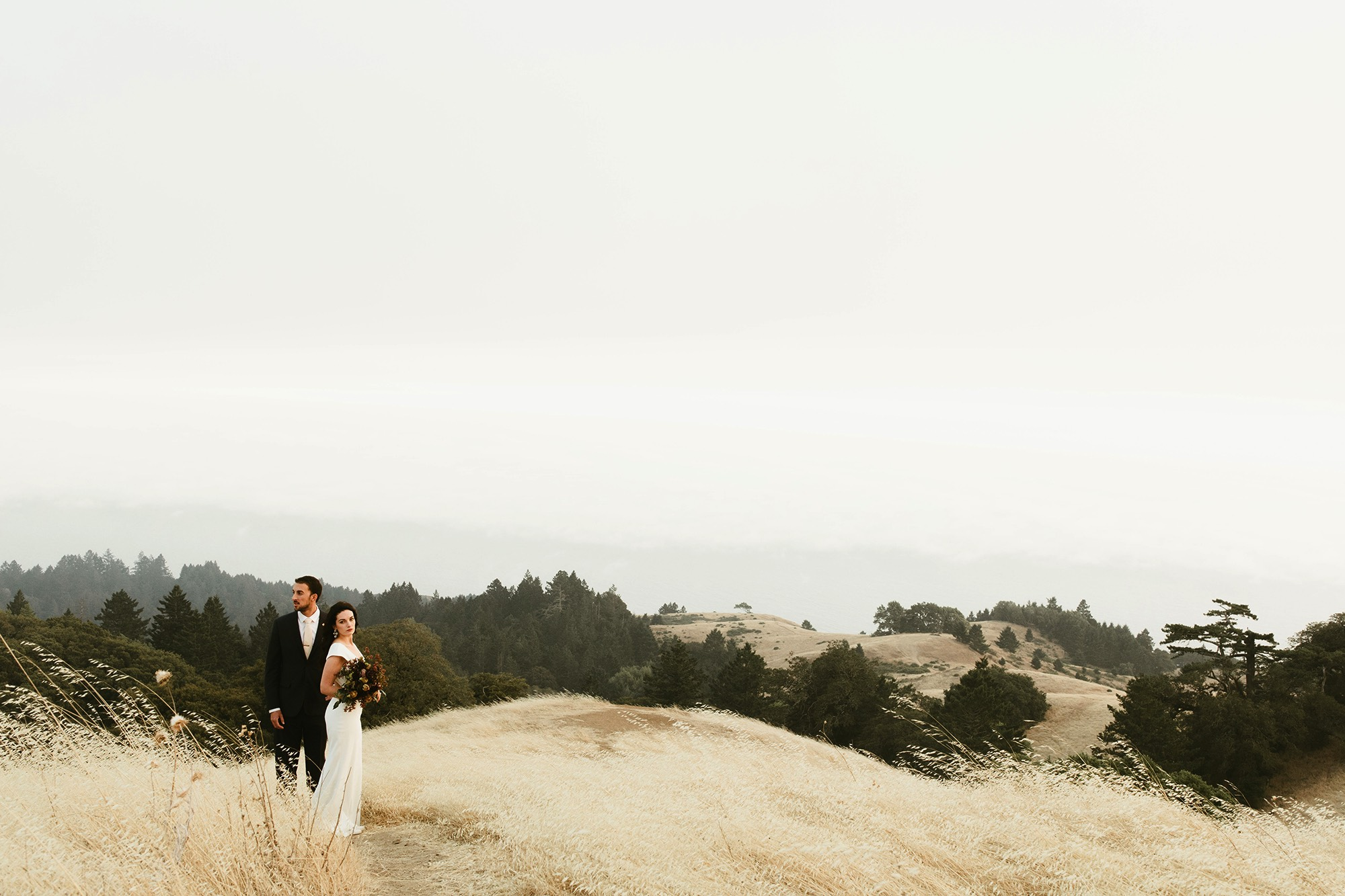 San Francisco Mount Tam Elopement Style me Pretty