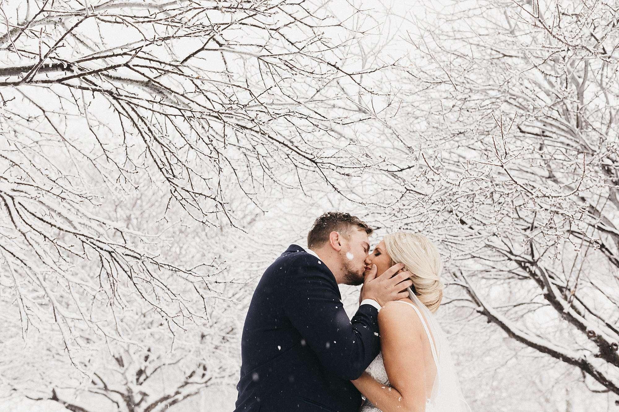Snowy Wedding at the Maytag Event Complex in Newton Iowa