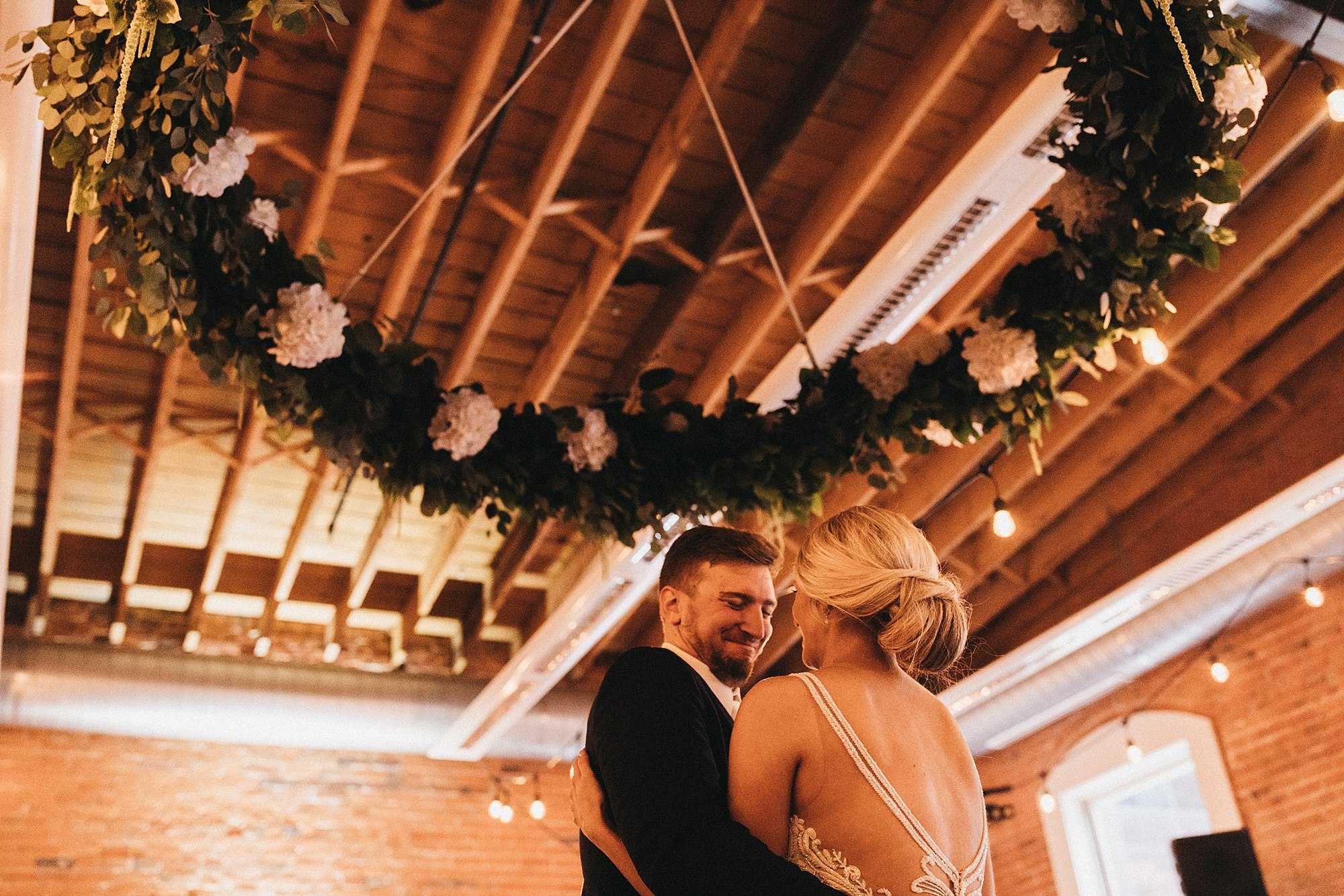 Snowy winter wedding at the Maytag Event Complex in Newton Iowa
