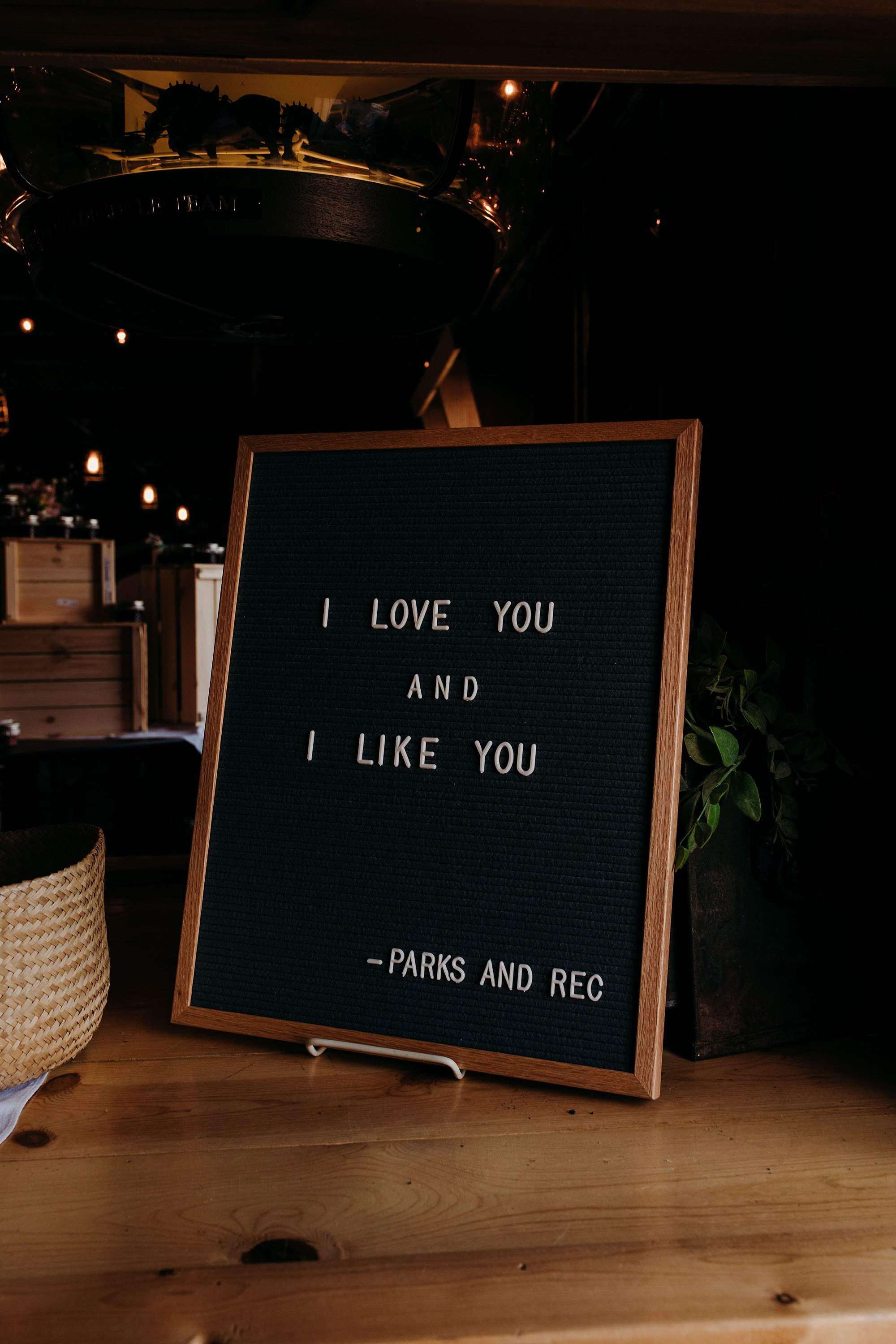 parks and rec quotes at lake okoboji barn wedding