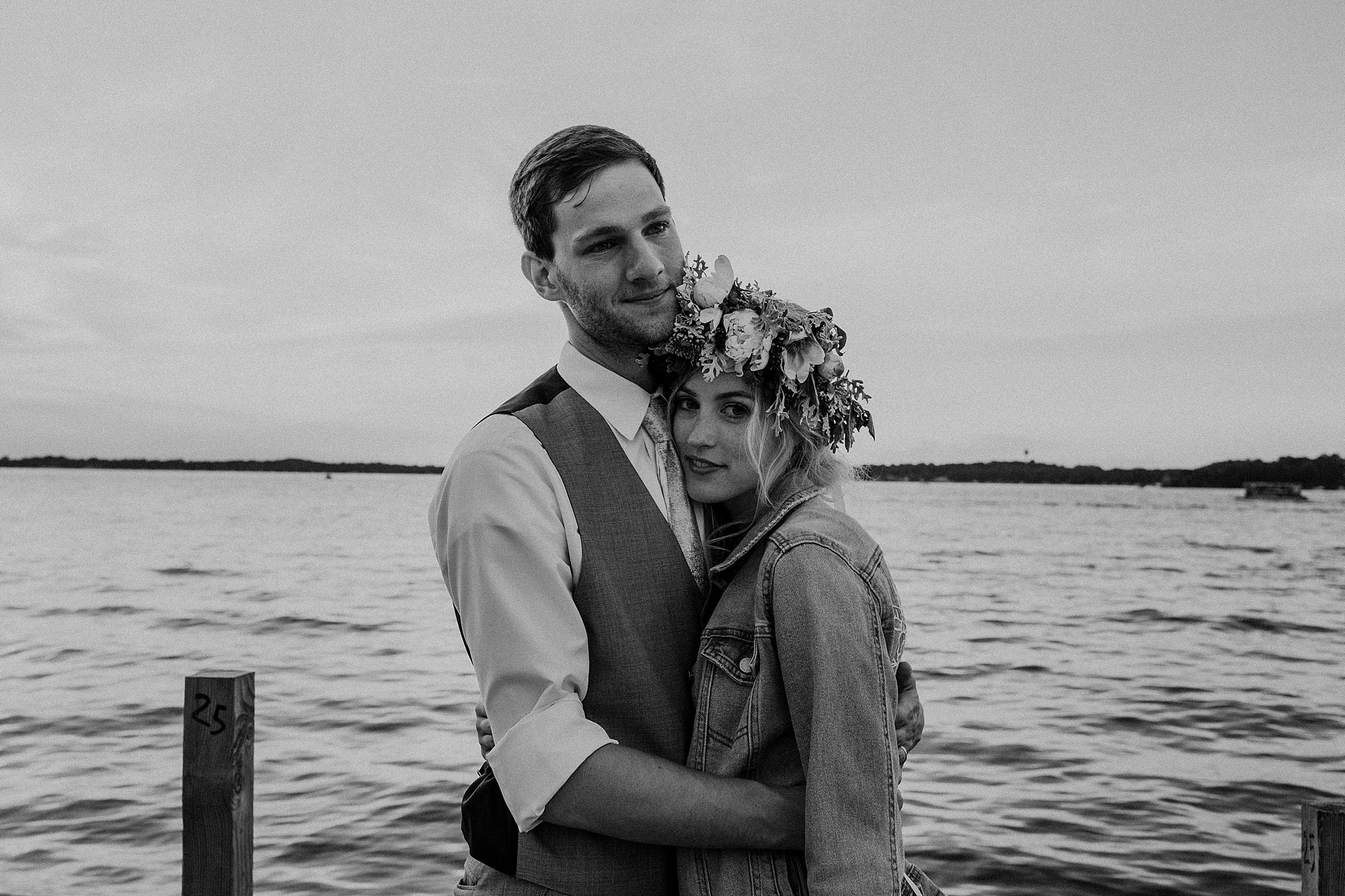 wilderly bride at lake okoboji wedding