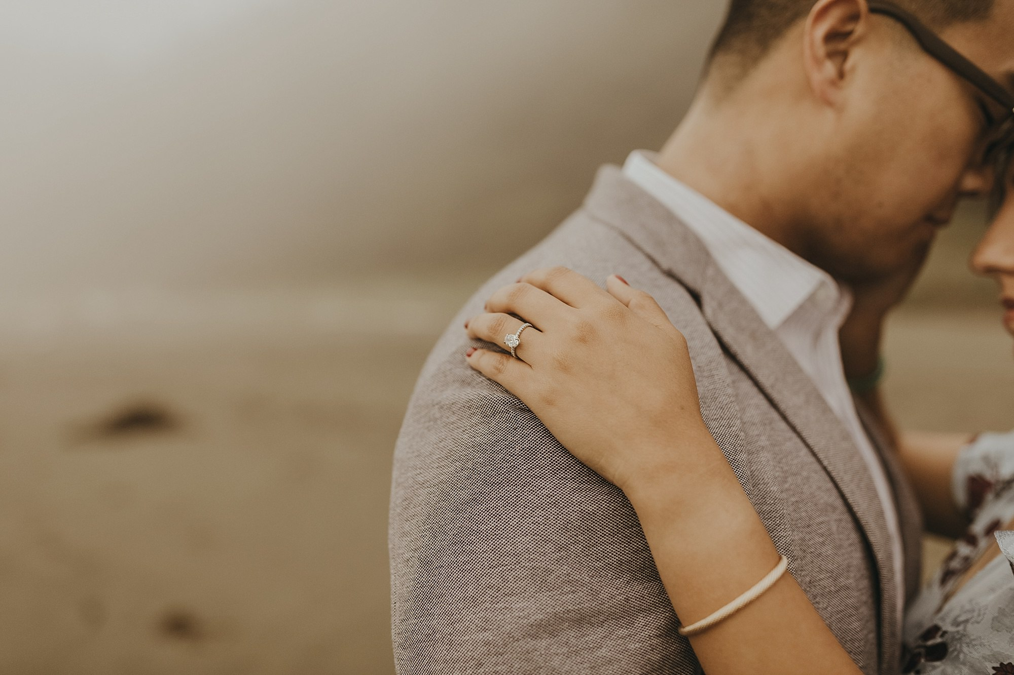 shi shi beach engagement shoot in olympic national park