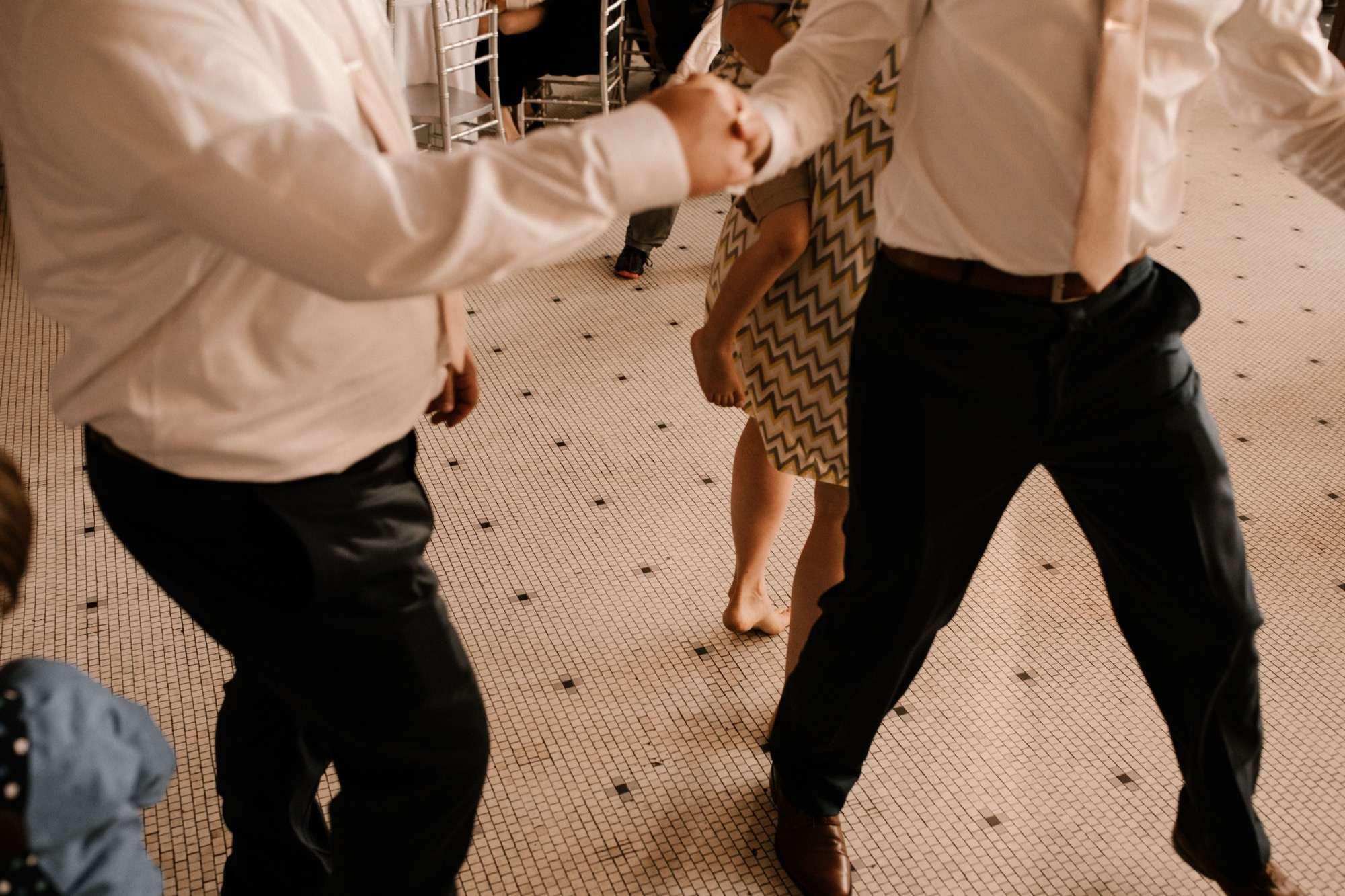 bash downtown des moines wedding dancing