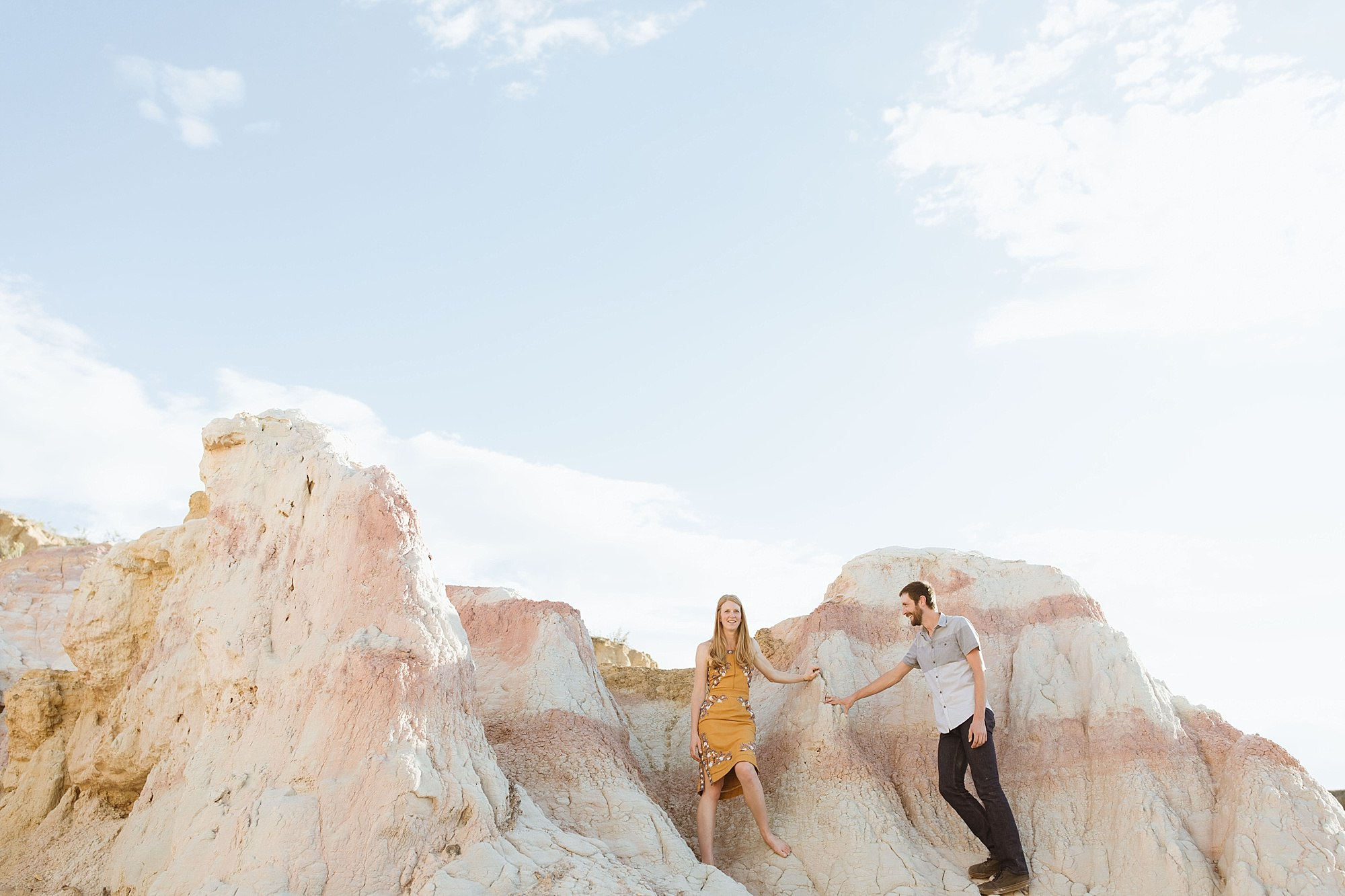 paint mines engagement session