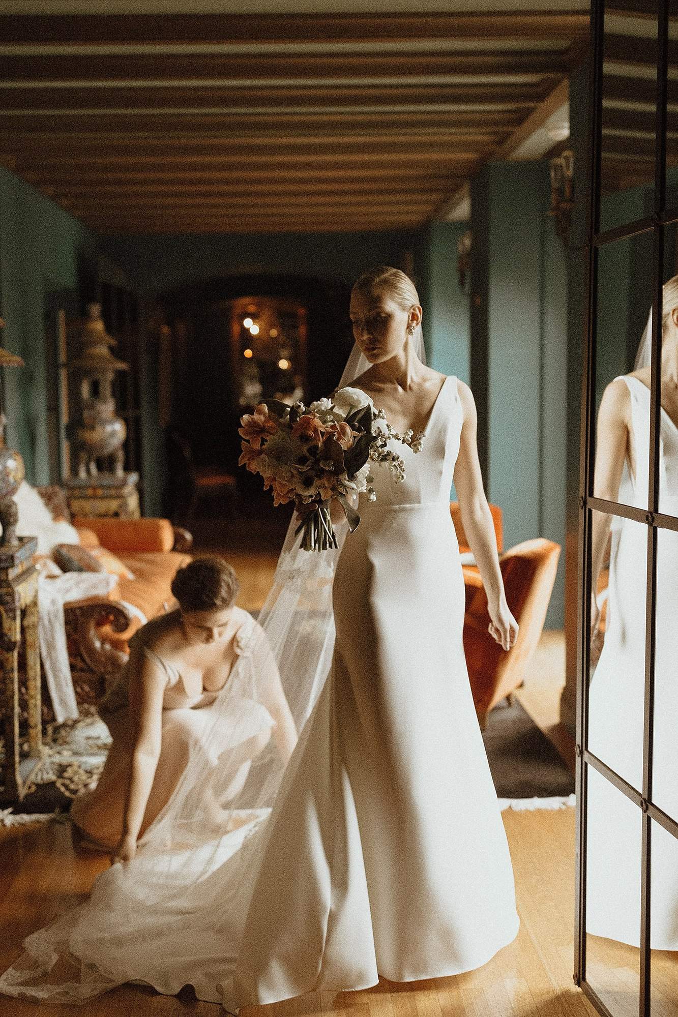 paramour estate wedding bride in Sarah seven gown