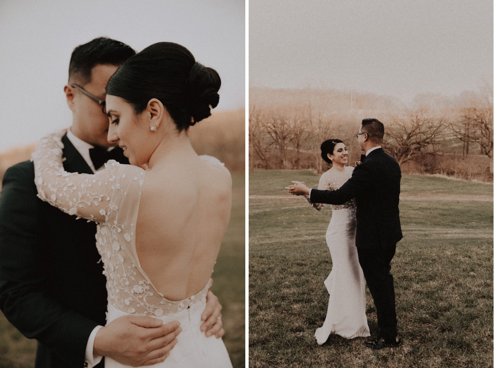 intimate Iowa City wedding at rapid creek cider
