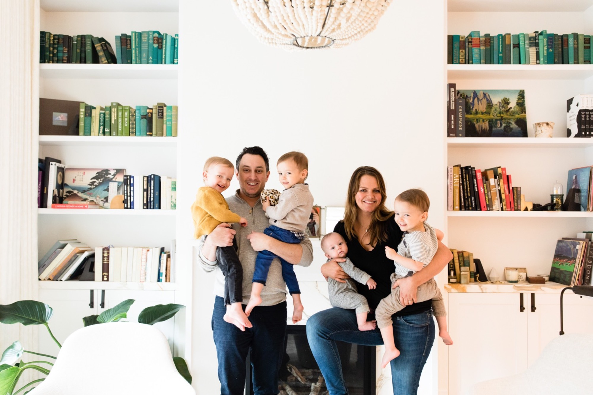 the Lurie family at home in Chicago
