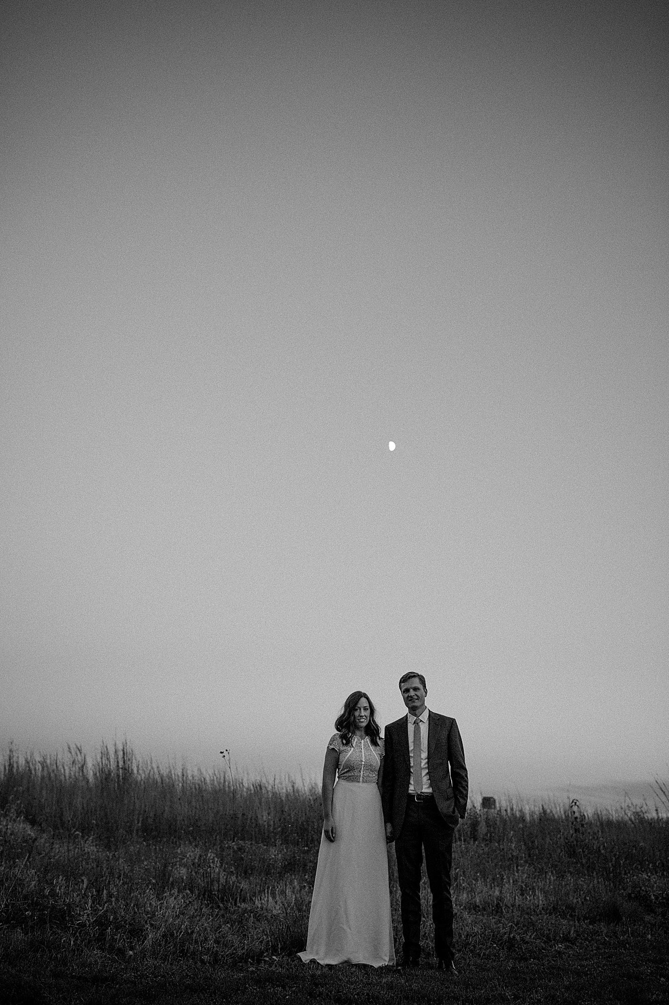 des moines moonrise engagement shoot