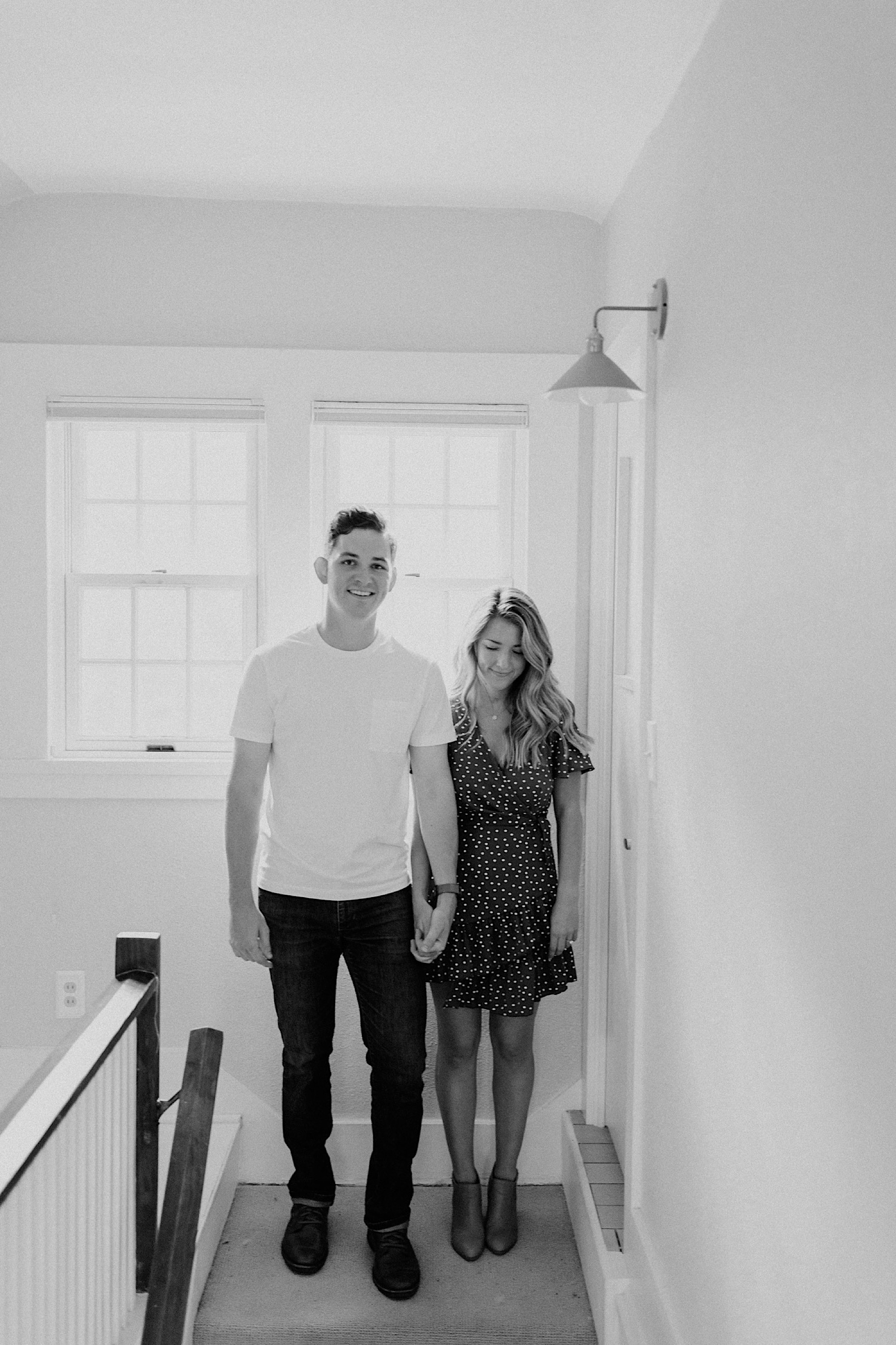 Kathryn Wheeler and Vince Driscoll at home