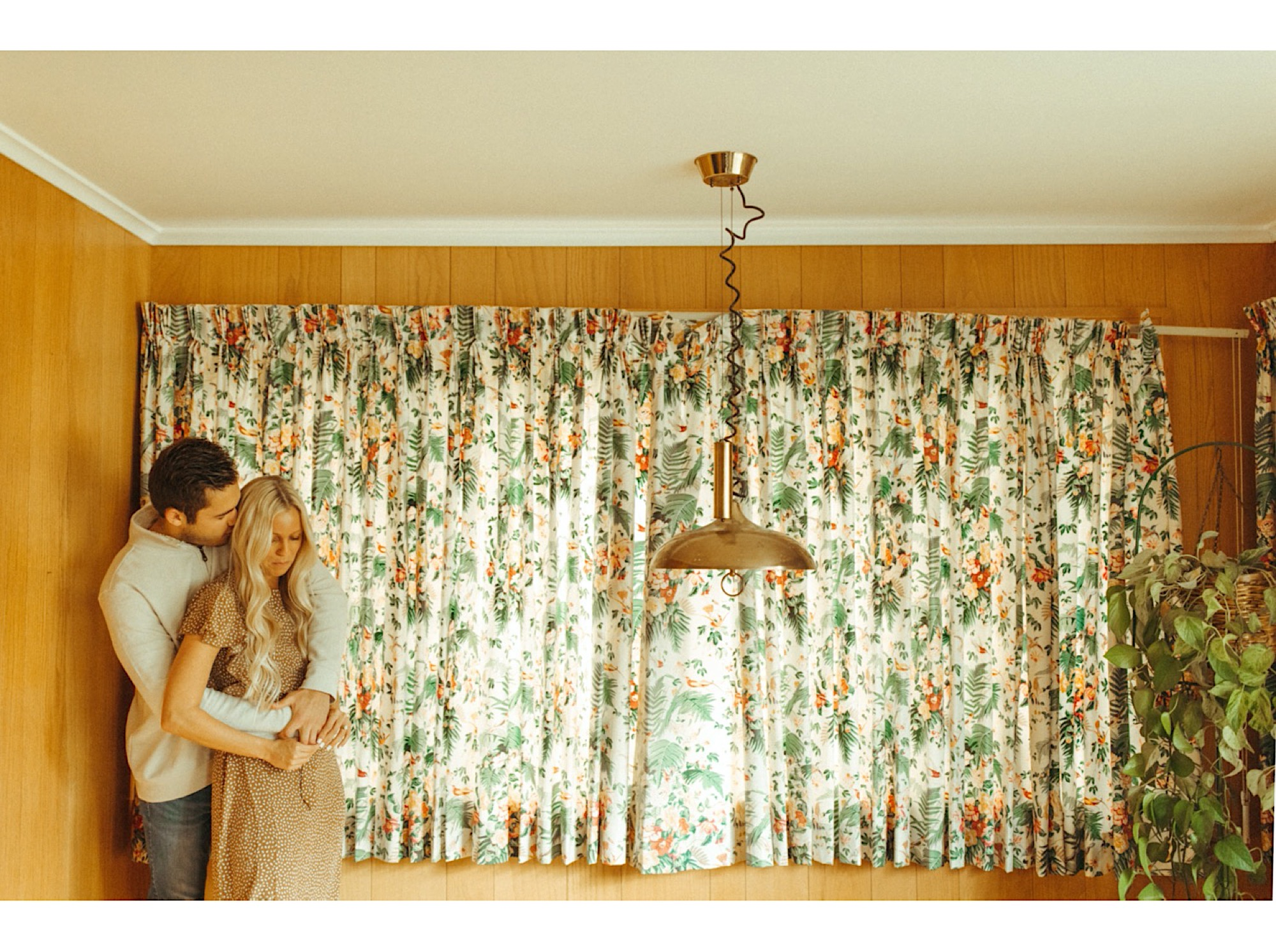 70s inspired vintage engagement shoot