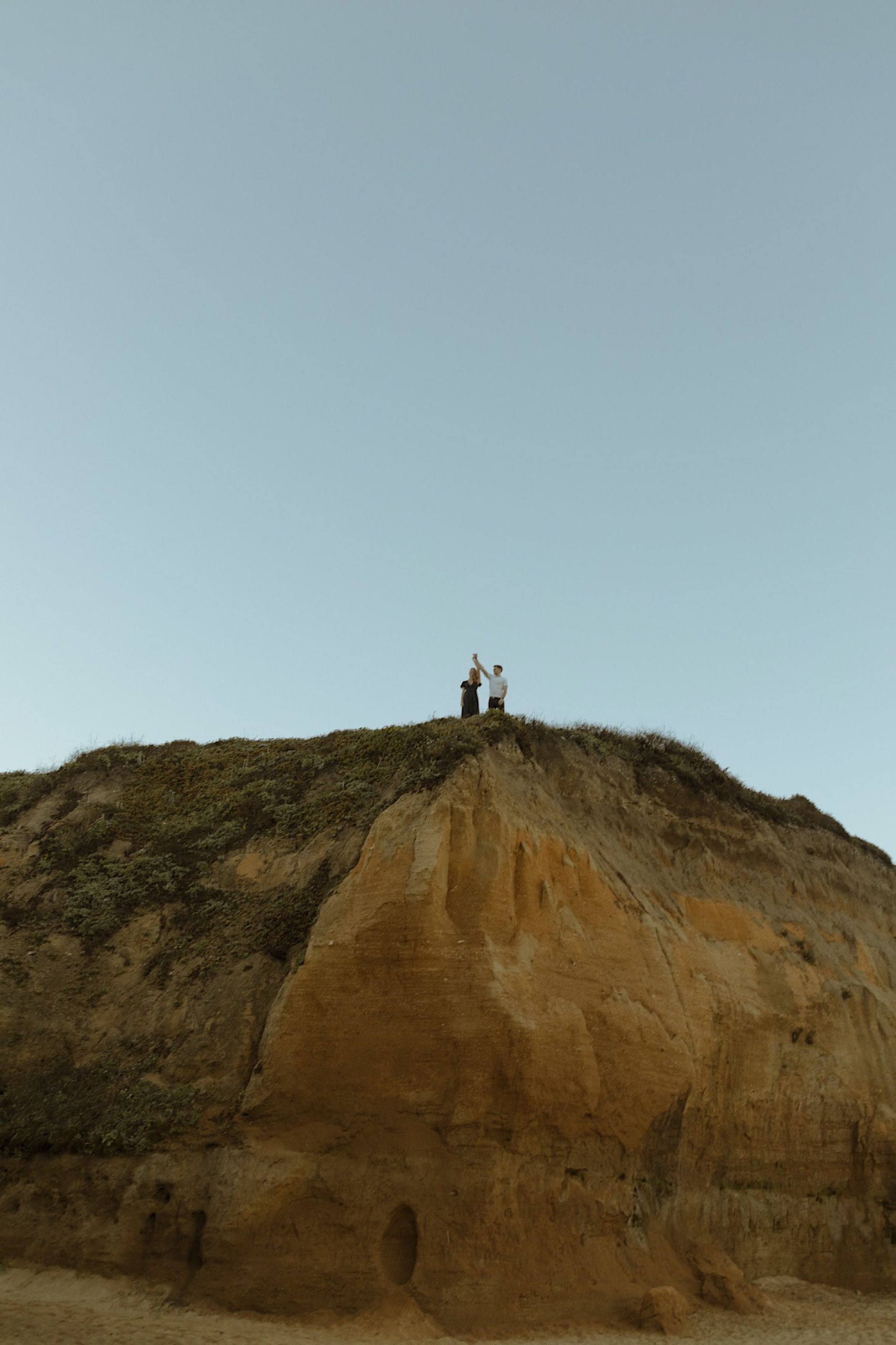 epic engagement session at half moon bay