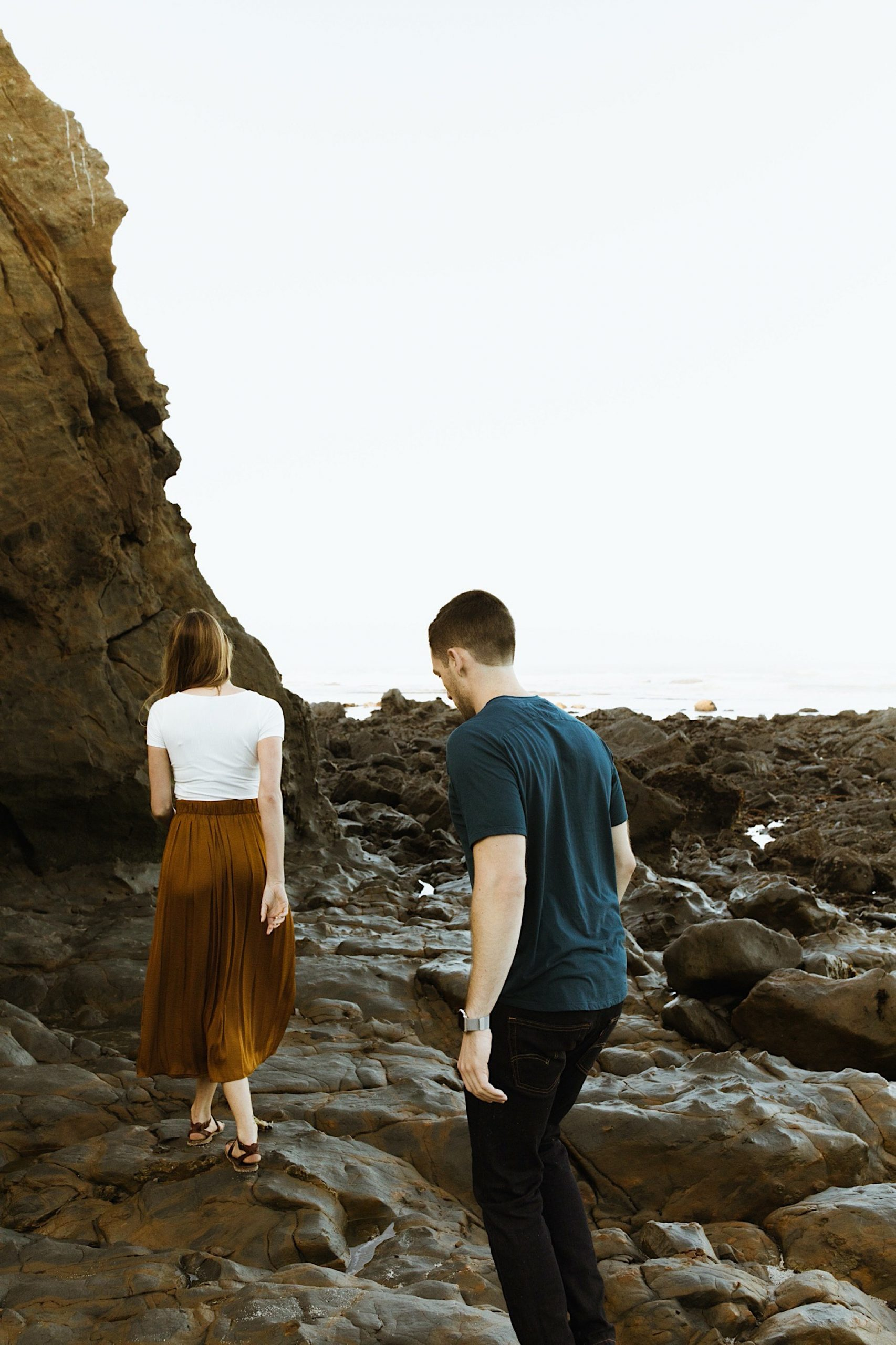 half moon bay engagement session