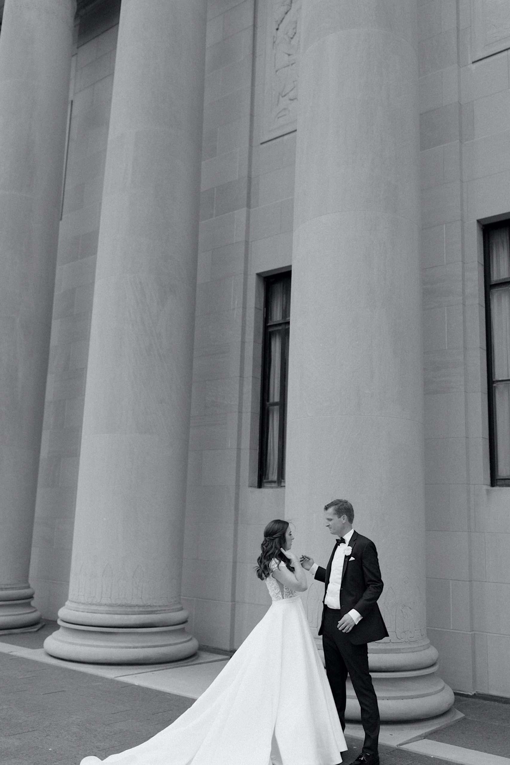 Kansas City wedding at the nelson-Atkins museum